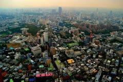 都市密度在东京,日本。 免版税库存照片