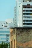 都市对比 库存图片