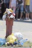 都市废物 免版税库存图片