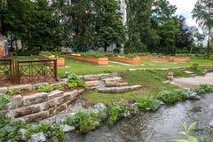 都市庭院在市拜罗伊特 免版税图库摄影