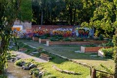 都市庭院在市拜罗伊特 库存图片