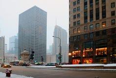 都市建筑学和大城市生活背景 库存图片