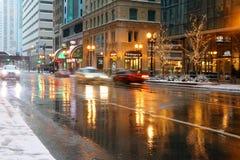 都市建筑学和大城市生活背景 免版税库存照片