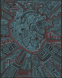 都市心脏传染媒介例证 图库摄影