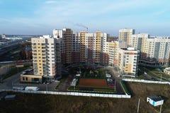 都市房地产鸟瞰图在Kutuzovo区 免版税库存照片