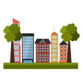 都市房地产 库存图片