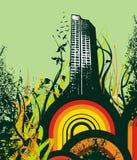 都市抽象的背景 免版税库存图片