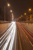都市晚上业务量 库存图片