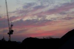 都市晚上天空 免版税库存照片