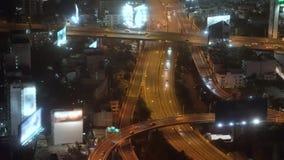 都市晚上的业务量 在路的交通 股票视频