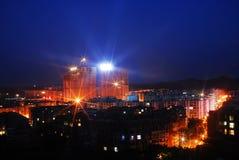 都市晚上的场面 免版税图库摄影