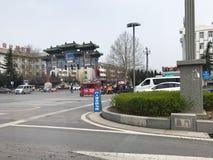 都市正方形在洛阳市在春天 免版税库存照片