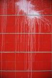 都市泼溅物油漆红色背景 免版税库存图片