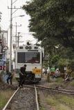 都市火车在圣何塞哥斯达黎加 库存照片