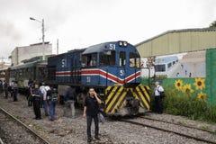 都市火车在圣何塞哥斯达黎加 库存图片