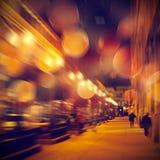 都市生活在晚上 免版税库存图片