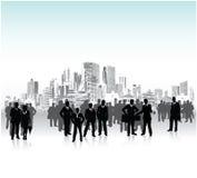 都市的人群 免版税库存照片
