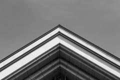 都市的几何 抽象建筑设计 免版税库存照片