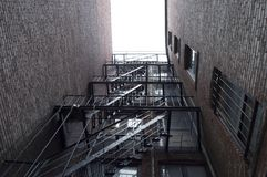 都市的台阶 库存照片