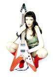 都市的吉他演奏员 库存图片