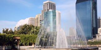 都市的喷泉 免版税库存照片