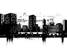 都市的地平线 免版税库存照片