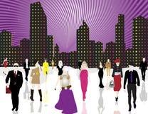都市的城市居民 库存照片