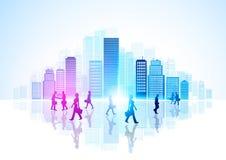 都市的城市生活 向量例证