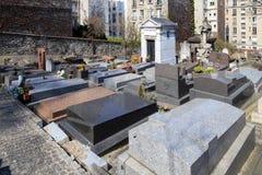 都市的墓地 库存照片
