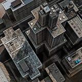 都市的屋顶 库存照片