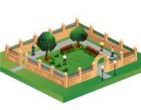 都市的庭院 库存图片