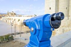 都市的望远镜 库存图片
