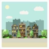 都市的横向 向量例证