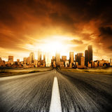 都市的死命 免版税图库摄影