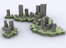 都市的海岛 免版税库存图片