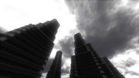都市的漫步 摩天大楼 皇族释放例证