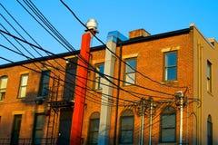 都市的砖瓦房 免版税图库摄影