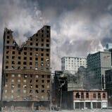 都市的破坏 库存例证