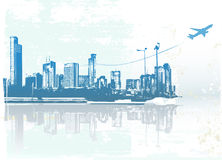 都市的背景 免版税库存照片