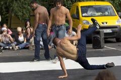 都市的舞蹈演员 免版税库存照片