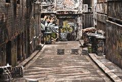 都市的街道画 库存照片