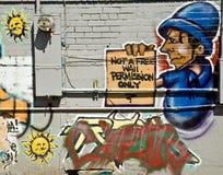 都市的街道画 免版税库存图片