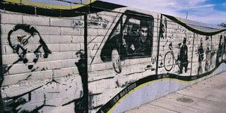 都市的街道画 图库摄影