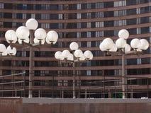 都市的路灯柱 库存照片