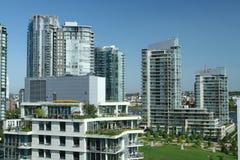 都市的顶楼房屋 库存图片