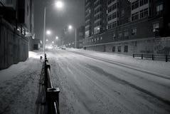 都市的snowscape 免版税库存照片