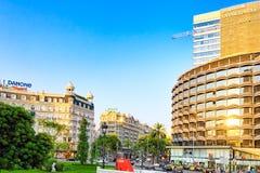 都市看法巴塞罗那的美好的风景, 免版税库存照片