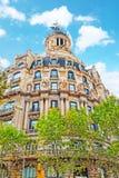 都市看法巴塞罗那的美好的风景, 库存图片