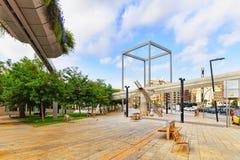都市看法巴塞罗那的美好的风景 库存图片