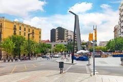 都市看法巴塞罗那的美好的风景 免版税库存照片